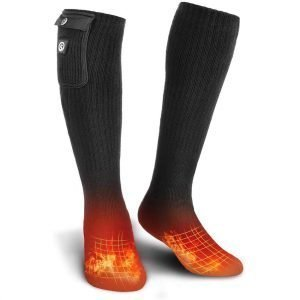 Unisex Foot Savior Warmer Electric Ski Socks Black