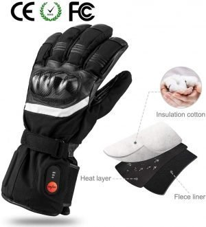 Battery Powered Savior Heated Ski Gloves