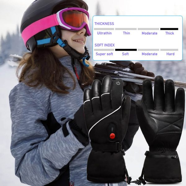 Thick Battery Savior Heated Leather Gloves