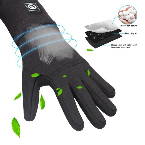 Thin Heated Gloves Liners For Men And Women