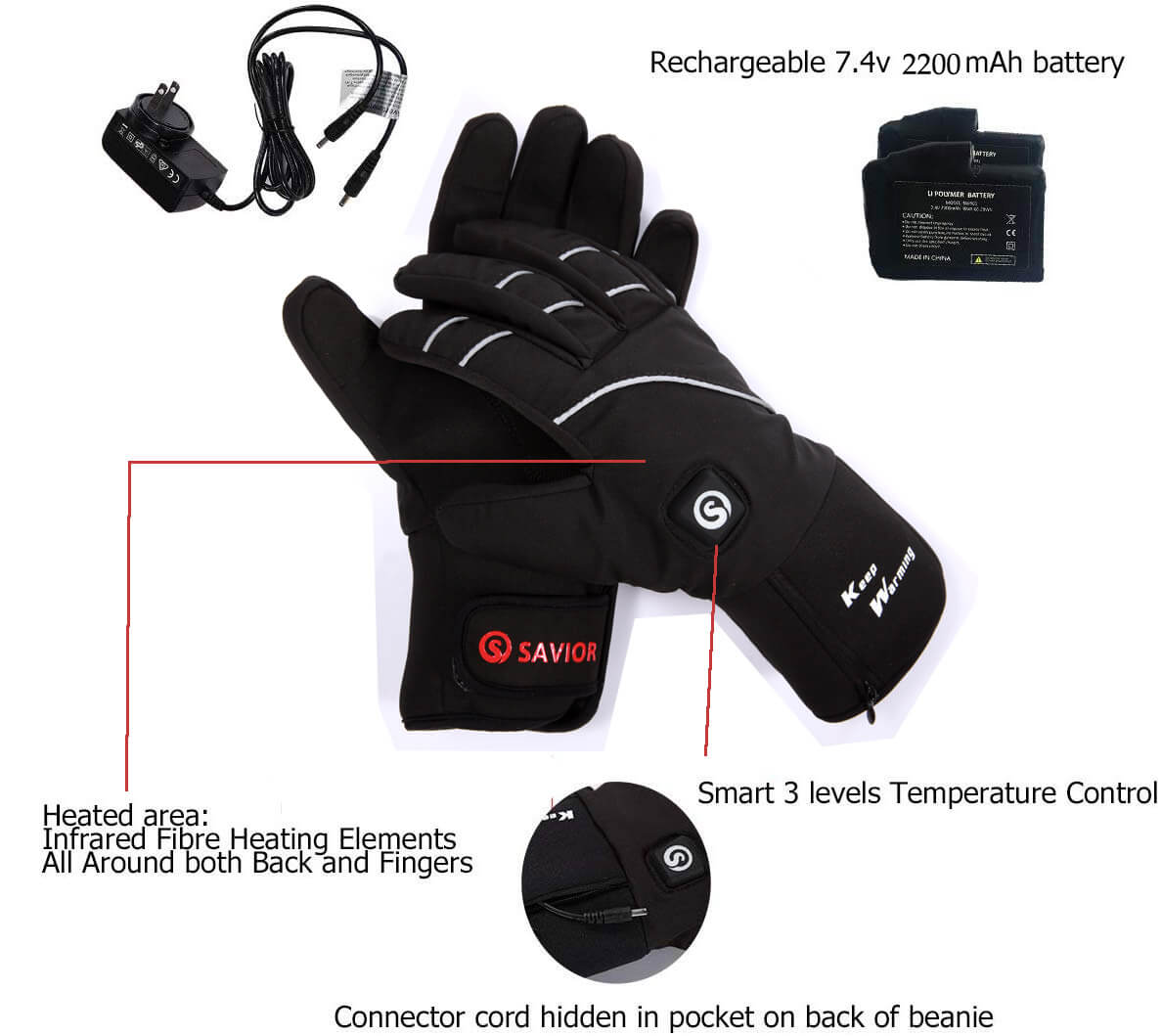 Savior is a company specializing in heated gloves. They found perfect solution for your hand in cold winter.