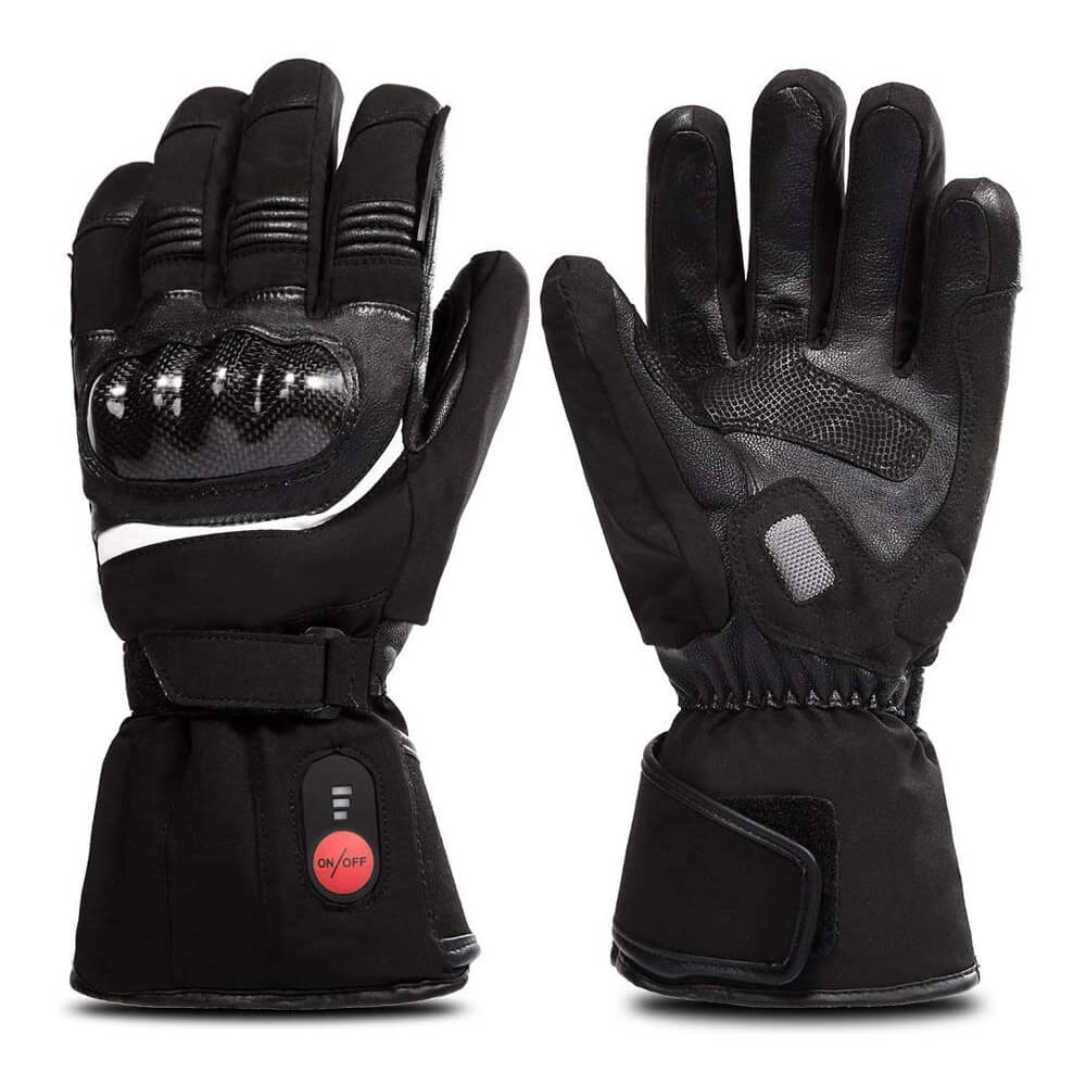 Savior ski and motorcycle heated gloves is best gloves for subzero temperatures. Top layer goat skin covering surface. 7.4 volt battery provides up to 6 hours of heating.