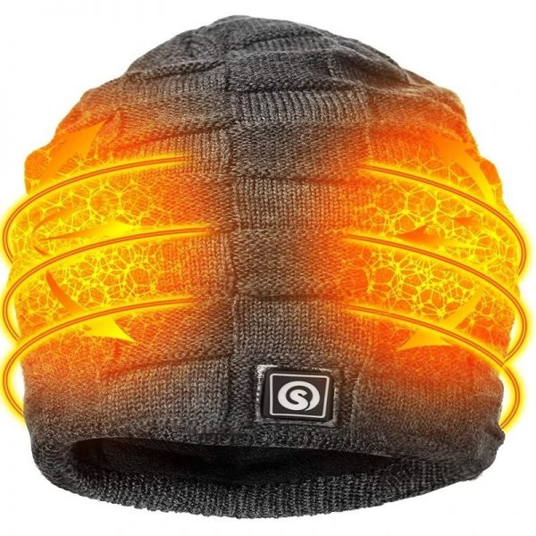 Adult Rechargeable Winter Heated Fleece Cap