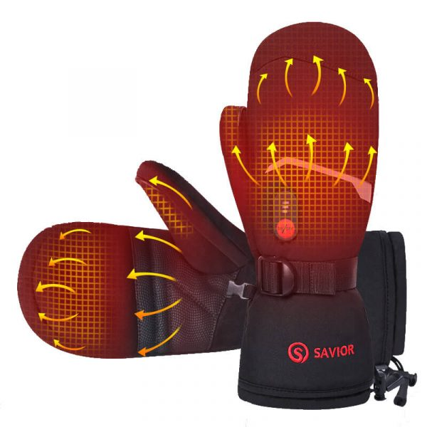 7.4V Rechargeable Battery Gloves For Skiing