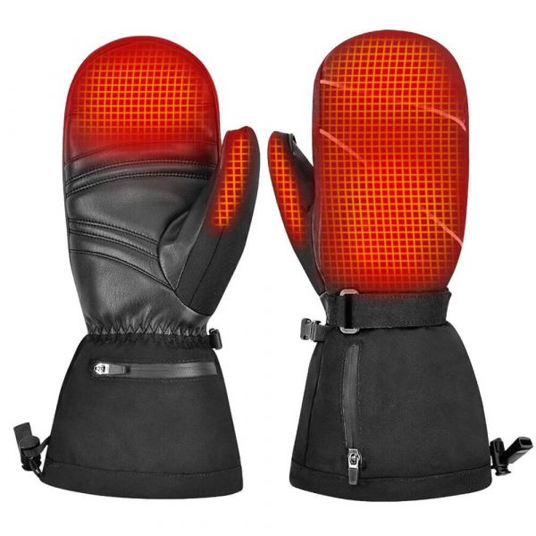 Rechargeable 7V Battery Heated Ski Mittens